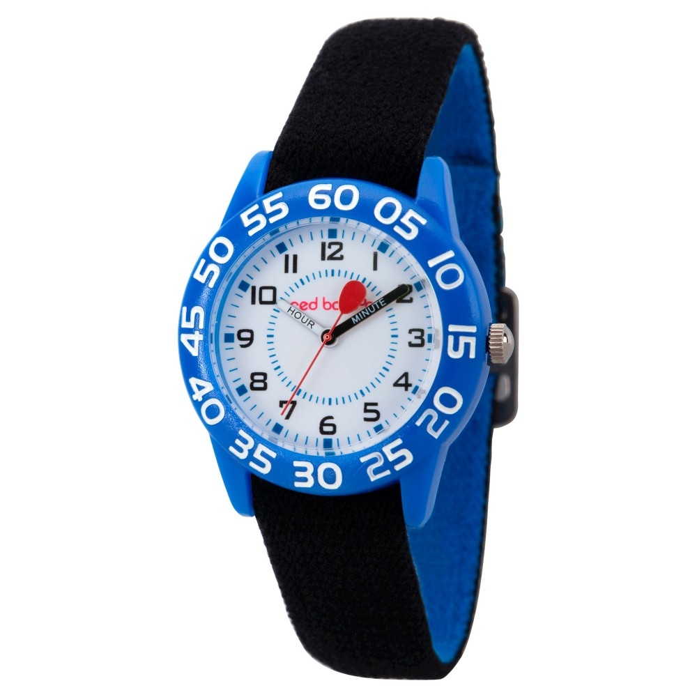 Image of Boys' Red Balloon Blue Plastic Time Teacher Watch - Black, Boy's