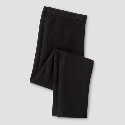 Toddler Girls' Solid Leggings - Cat & Jack™ Black 2T