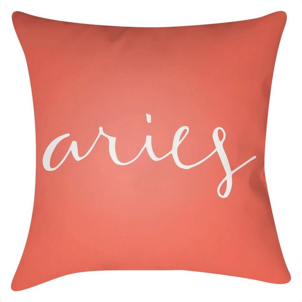 Pink Aries Throw Pillow 18
