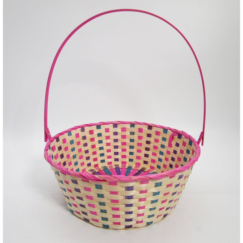 15 34 Bamboo Easter Basket Warm Colorway Pink And Purple Mix Spritz 8482