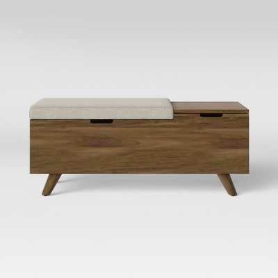 Meller Wood and Upholstered Bench Gray - Project 62™