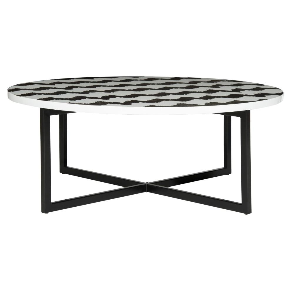 Cheyenne Coffee Table Black/White - Safavieh, Blue/White