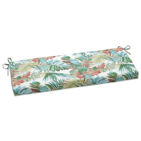 """45"""" x 18"""" Outdoor/Indoor Bench Cushion Sengala Teal Blue - Pillow Perfect - image 1 of 1"""