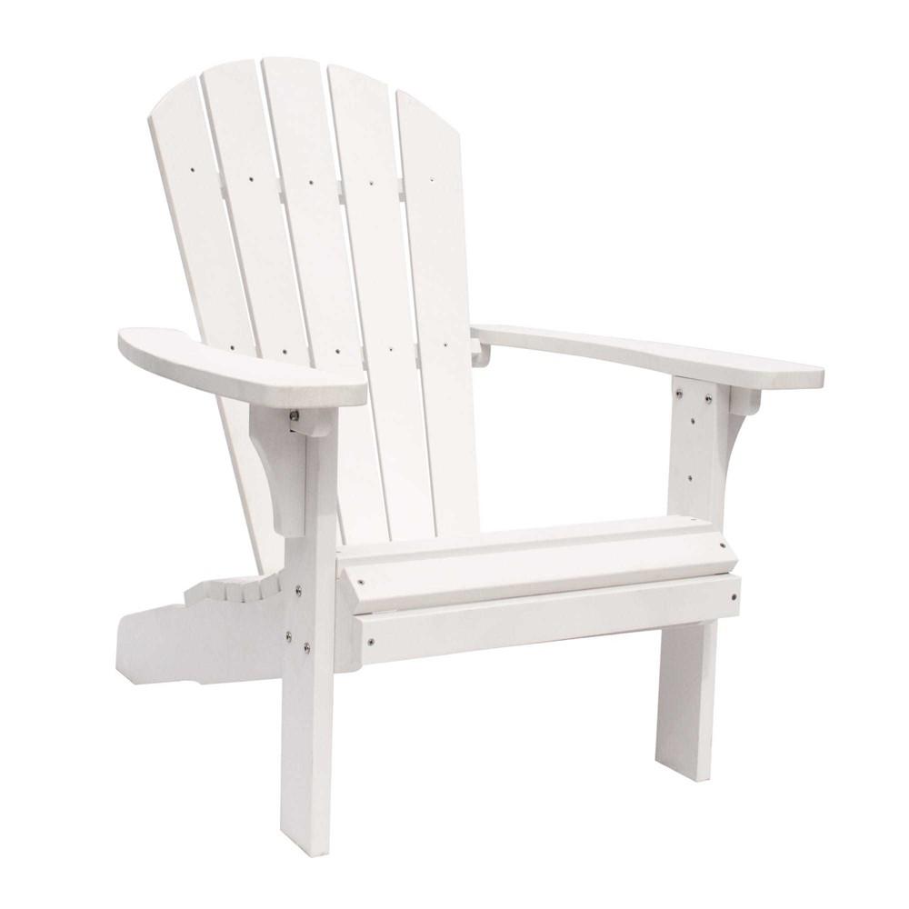 Royal Palm Plastic Adirondack Chair White - Shine Company Inc.