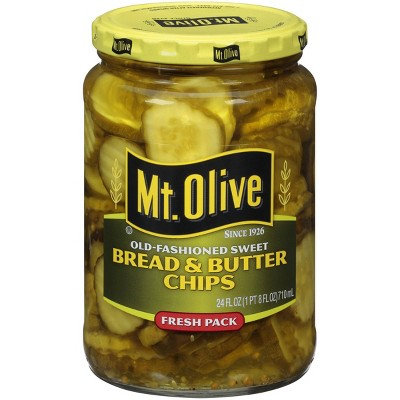 Mt. Olive Old-Fashioned Sweet Bread & Butter Pickle Chips - 24oz