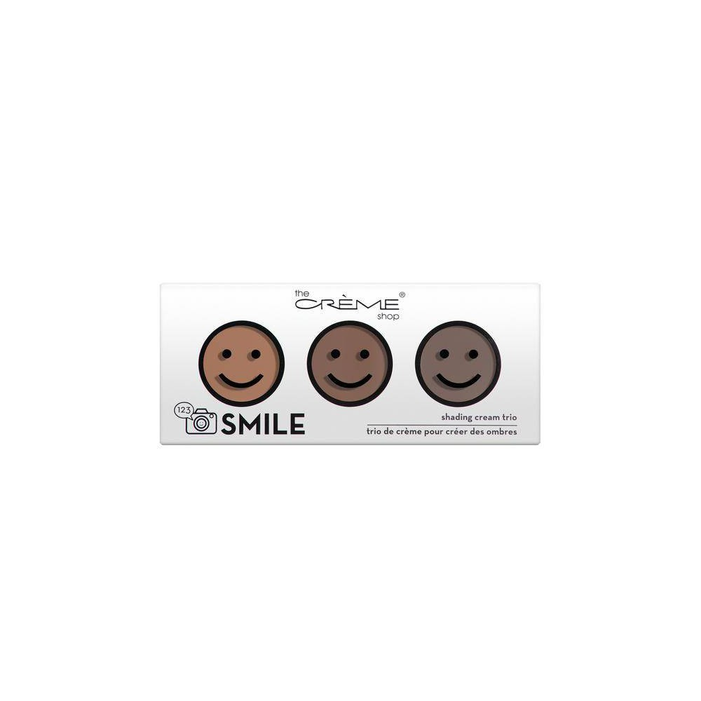 The Crème Shop 123 Smile Palette Shading Powder Trio Medium, Multi-Colored