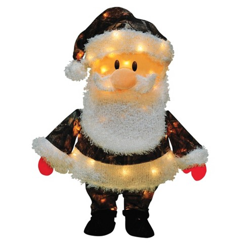 """Northlight 24"""" Pre-Lit Candy Lane Santa Claus in Camo Christmas Outdoor Decoration - Clear Lights - image 1 of 2"""