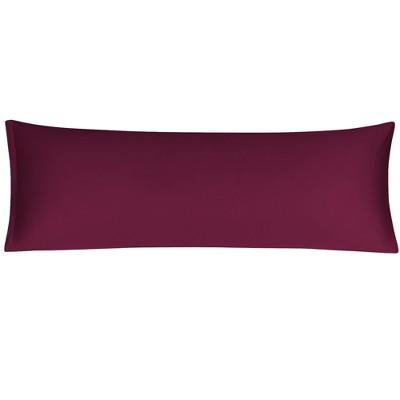 1 Pc Body 280 Thread Count Egyptian Cotton Pillowcase Burgundy - PiccoCasa