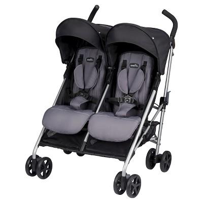 Evenflo® Minno Twin Double Stroller Glenbarr Gray
