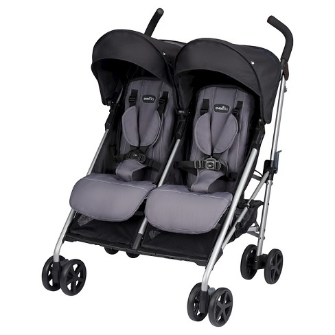 EvenfloR Minno Twin Double Stroller Glenbarr Gray