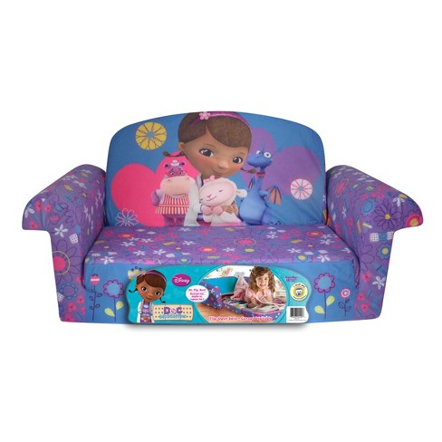 Marshmallow Furniture Children's 2 in 1 Flip Open Foam Sofa - Disney Doc McStuffins by Spin Master - image 1 of 7
