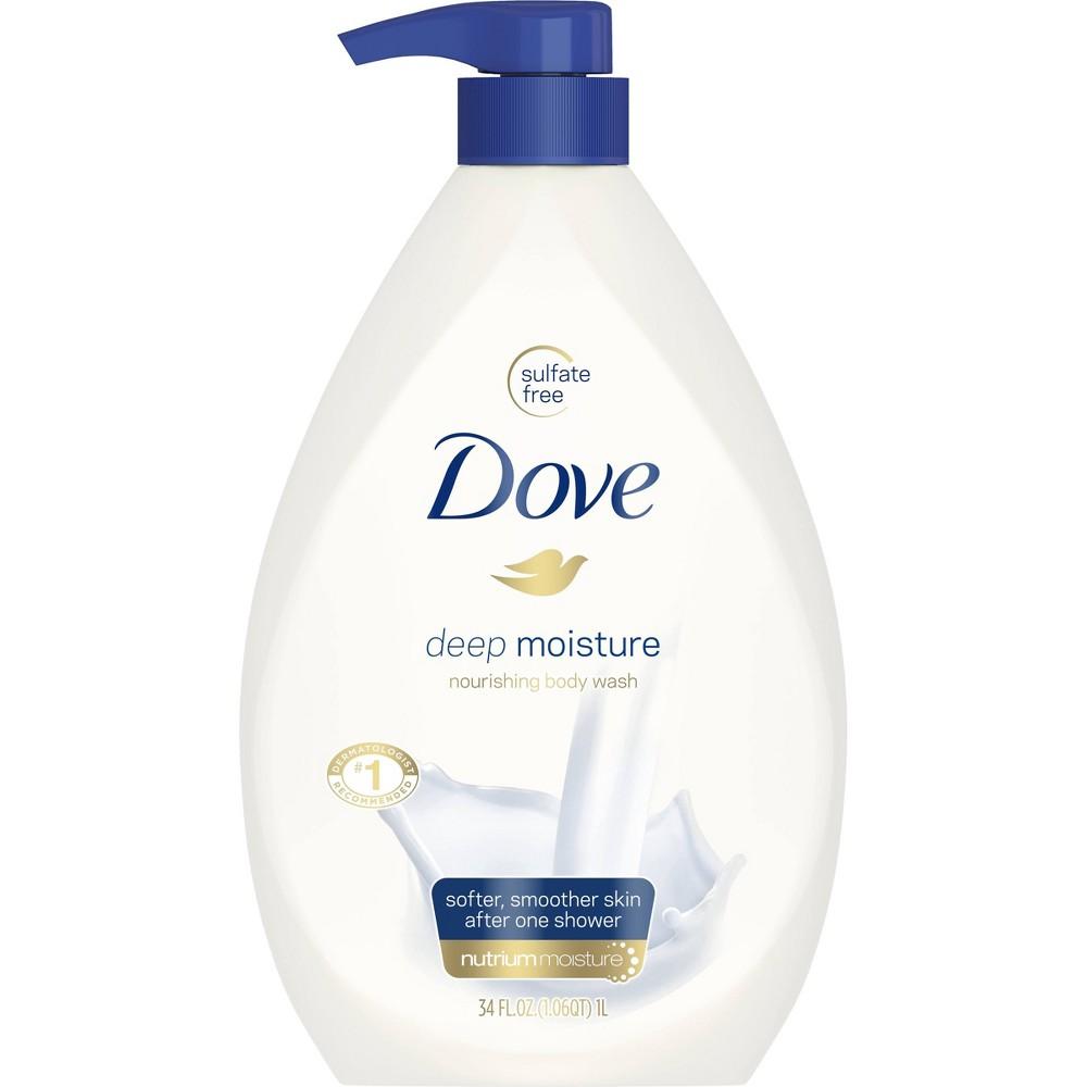 Dove Deep Moisture Body Wash with Pump - 34 oz