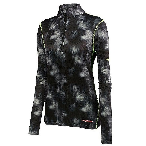 Mizuno Women's Breath Thermo Baselayer Half Zip Running Shirt - image 1 of 2