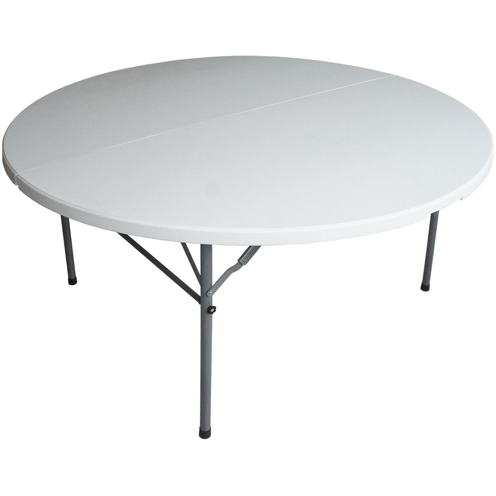 "Image of ""48"""" Round Folding Table Off-White - Plastic Dev Group, Beige"""