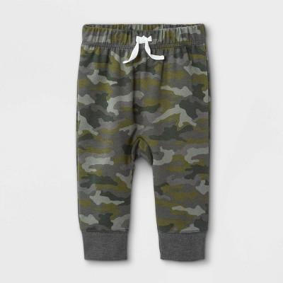 Baby Boys' Harem Camo Jogger Pants - Cat & Jack™ Green 0-3M