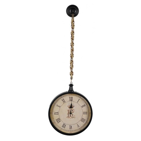 Lavonia Wall Clock Black - A&B Home - image 1 of 1