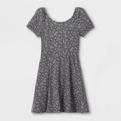 Girls' Bow Back Short Sleeve Dress - art class™