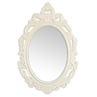 White Baroque Mirror - Stratton Home Decor
