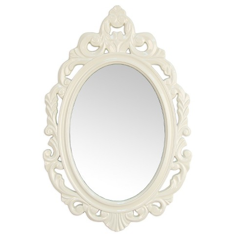 White Baroque Mirror - Stratton Home Decor - image 1 of 2