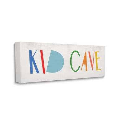 Stupell Industries Kid Cave Phrase Fun Vibrant Whimsical Typography