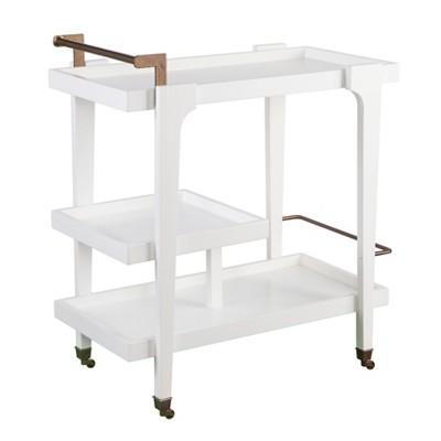 Zhori Midcentury Modern Bar Cart White - Holly & Martin