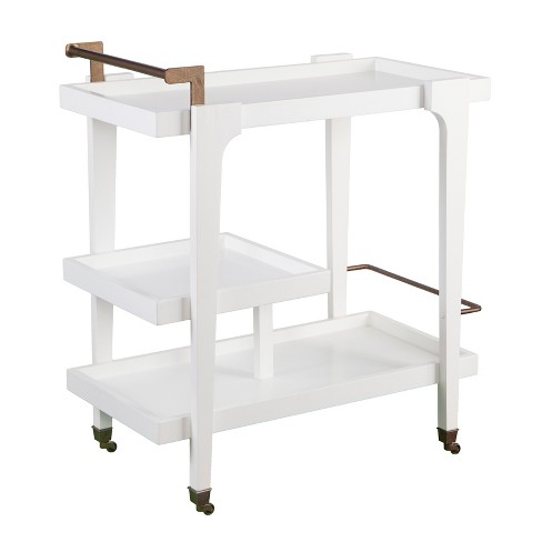 Zhori Midcentury Modern Bar Cart White - Holly & Martin - image 1 of 9