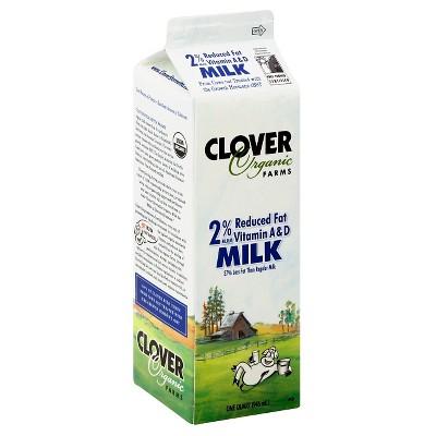 Clover Organic Farms 2% Milk - 1qt