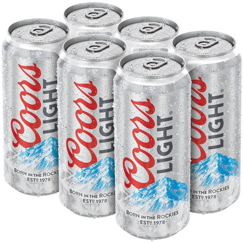 Coors Light Beer - 6pk/16 fl oz Cans - image 1 of 1