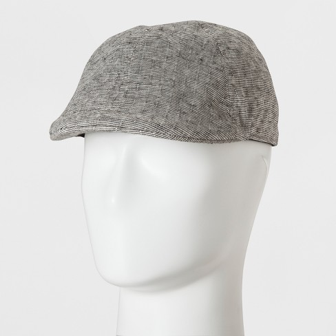 172e766a450c7 Men s Solid Striped Ivy Tiny   Off White Driving Cap - Goodfellow   Co™  Black One Size