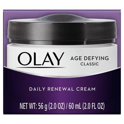 Olay Age Defying Classic Daily Renewal Cream Face Moisturizer - 2oz