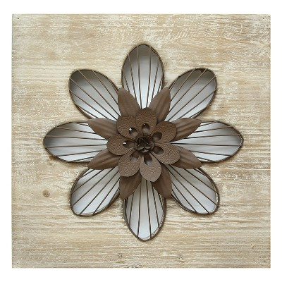 Rustic Flower Wall Decor - Stratton Home Decor
