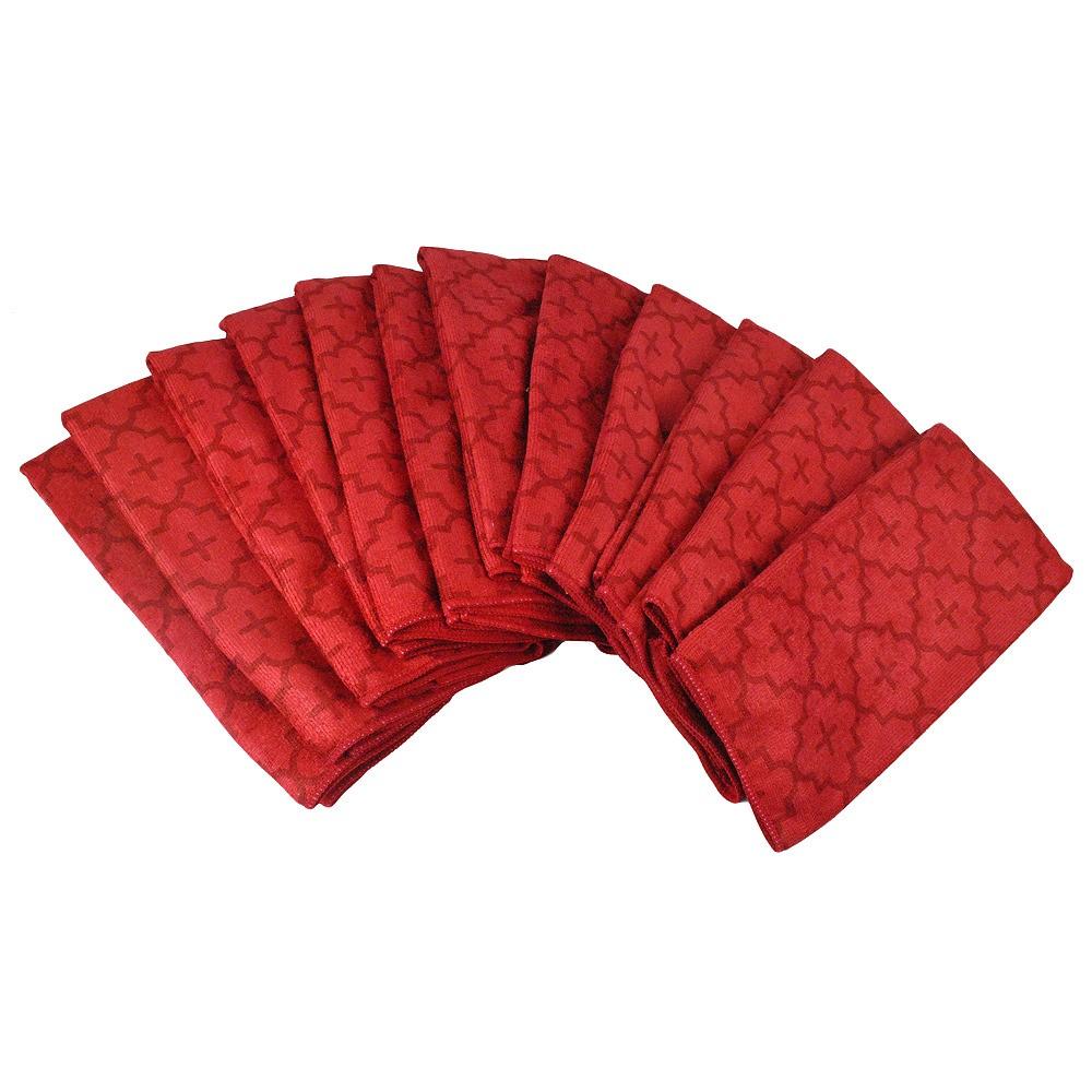 Set of 12 Red Dii Lattice Dish Cloth - Design Imports, Green