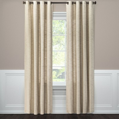 Spacedye Curtain Panel Tan (54 x84 )- Threshold™