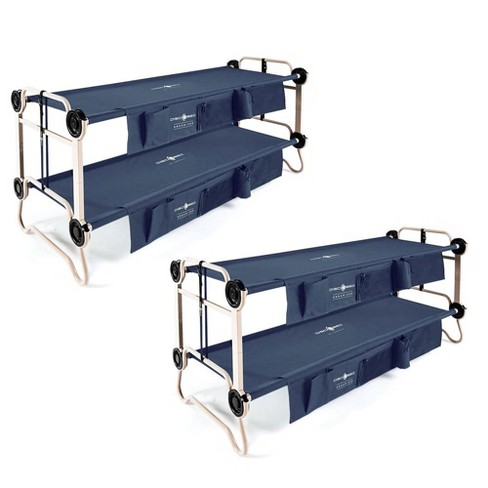 Disc-O-Bed Large Cam-O-Bunk Bunked Double Cot W/ Organizers, Navy Blue (2 Pack) - image 1 of 6