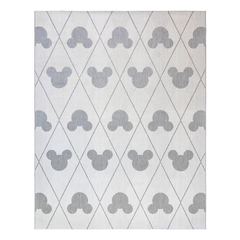 Image of 8'x10' Mickey Mouse and Friends Argyle Outdoor Rug Gray