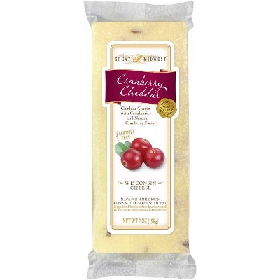 Great Midwest Cranberry Cheddar Wisconsin Cheese - 7oz