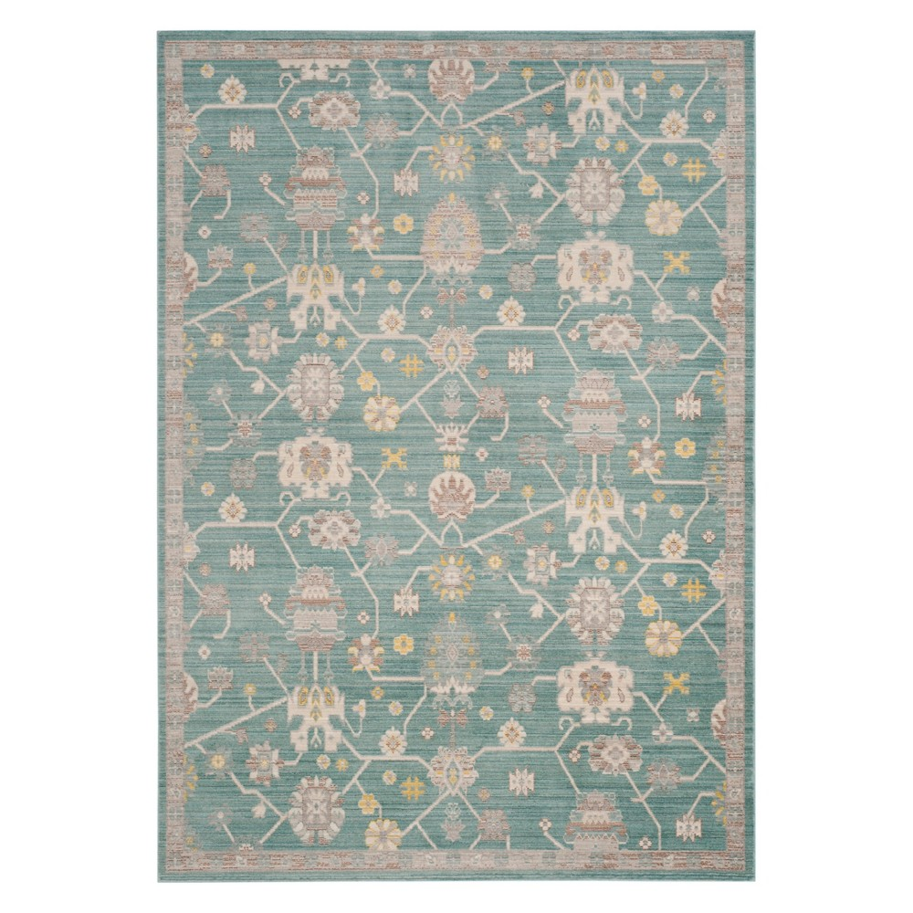 Best Buy 3X5 Floral Loomed Accent Rug Steel Blue Safavieh
