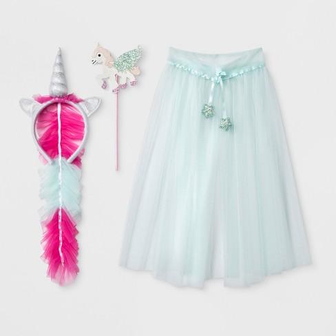 81cefed52eb16 Toddler Girls' 3pc Unicorn Dress Up Set - Cat & Jack™ Blue 2T-4T : Target