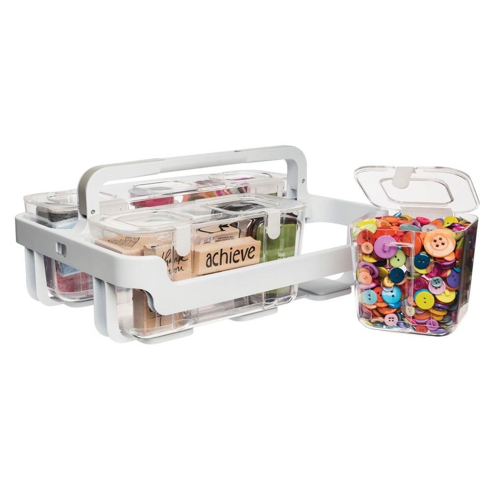 Image of Deflecto Stackable Caddy Organizer - Clear, White