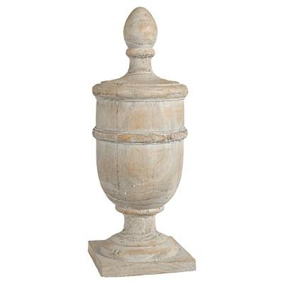 Whitewashed Finial Decorative Figurine