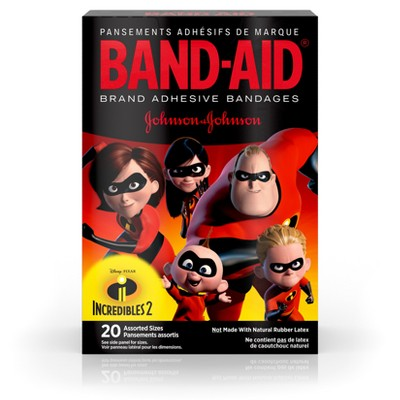 Band-Aid Brand Adhesive Bandages Incredibles 2 - Assorted Sizes - 20ct