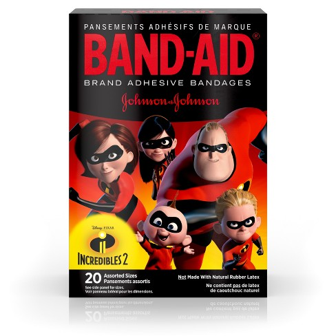 Band-Aid Brand Adhesive Bandages Incredibles 2 - Assorted Sizes - 20ct - image 1 of 4