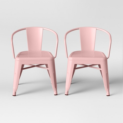 Excellent Set Of 2 Kids Industrial Activity Chair Pink Pillowfort Dailytribune Chair Design For Home Dailytribuneorg