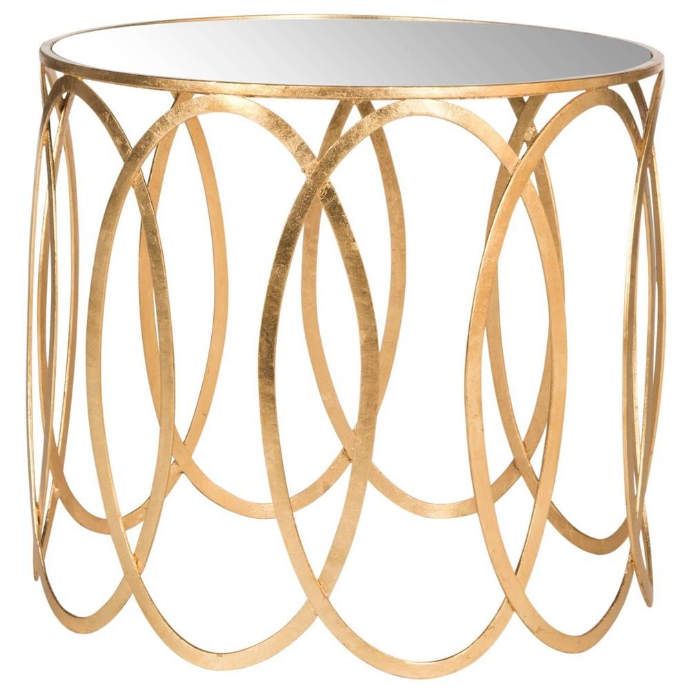 Cyrah Accent Table - Gold / Mirror - Safavieh