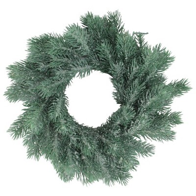 "Northlight 12"" Unlit Frosted Green Pine Christmas Wreath"