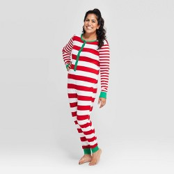 Women's Striped Holiday Union Suit - Wondershop™ Red