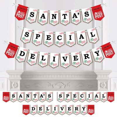 Big Dot of Happiness Santa's Special Delivery - from Santa Claus Christmas Bunting Banner - Party Decorations - Santa's Special Delivery