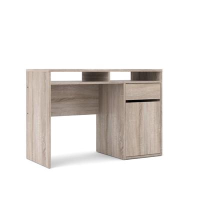 1 Drawer 1 Door Desk in Brown - Tvilum