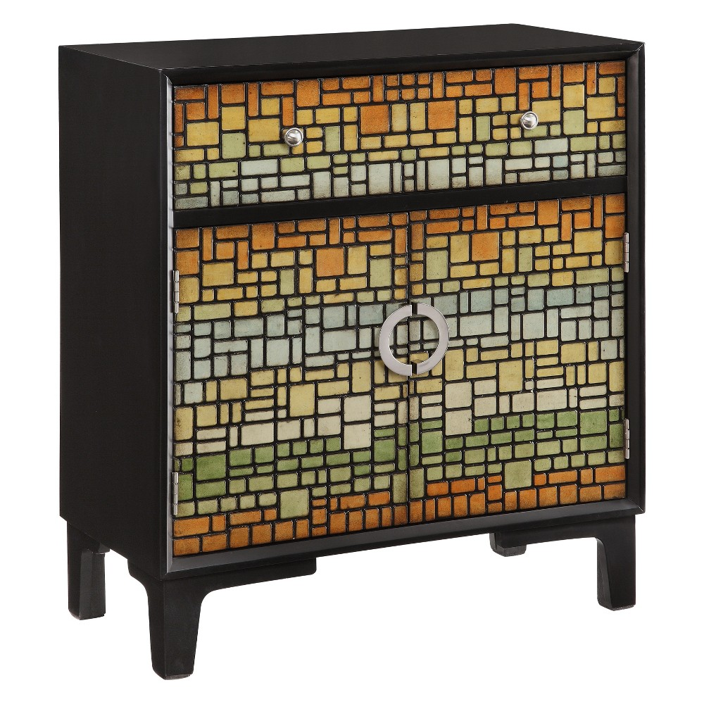 Mosaic 1 Drawer 2 Door Cabinet - Treasure Trove, Mutlicolor