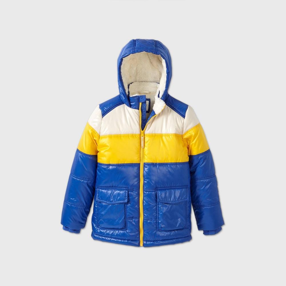 Boys 39 Puffer Jacket Cat 38 Jack 8482 Blue Yellow Xl